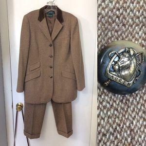 Lauren Ralph Lauren Lambs Wool Tweed Blazer Suit